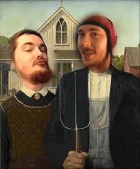 American Gothic Hermit Style by @CaptainNutJob